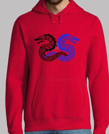 Sudadera Tribal Doble Dragon
