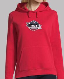 Sudadrera capucha chica TRZ3 Trillizos0201, rojo