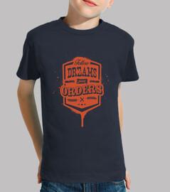sueños no siguen las órdenes de la camiseta del niño
