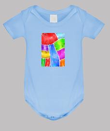 SUGGER Arte Abstracto Body bebé, azul cielo