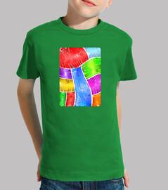 SUGGER Arte Abstracto Niño, manga corta, verde