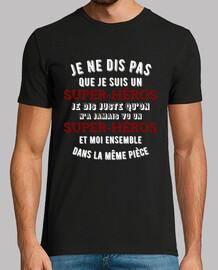 Super-héro t-shirt cadeau humour