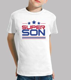 super are - boy, short sleeve, white