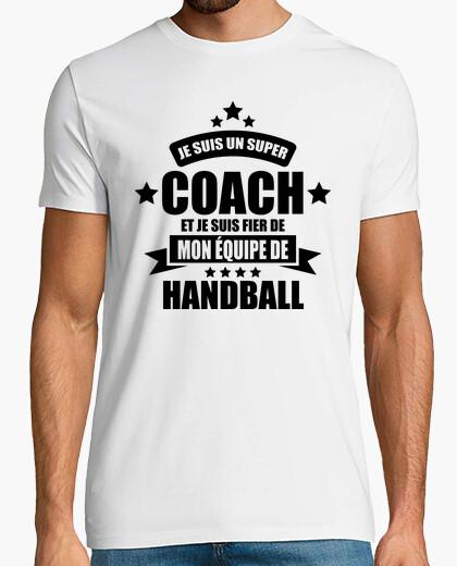 Tee-shirt super coach fier de mon équipe de hand