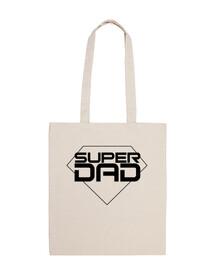 Super Dad - Bolsa tela 100% algodón