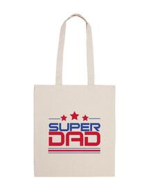 super dad - borsa in tela cotone 100%