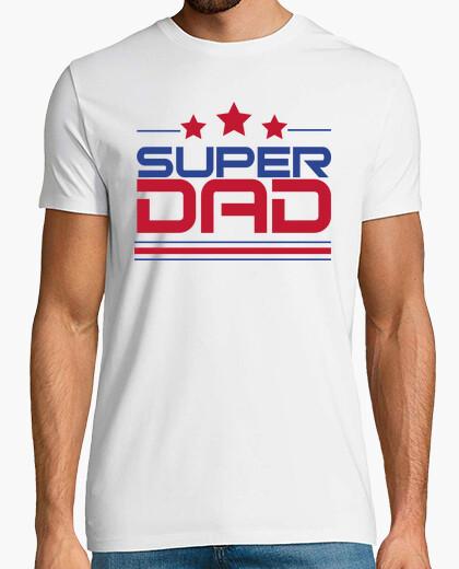 Camiseta Super Dad - Hombre, manga corta, blanco, calidad extra