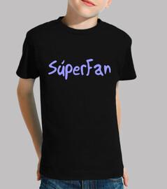 Súper Fan SD Niño, manga corta, negra