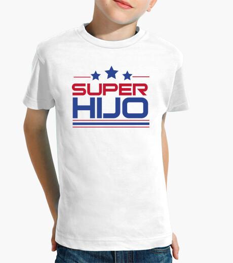 Ropa infantil Super Hijo - Niño, manga corta, blanco