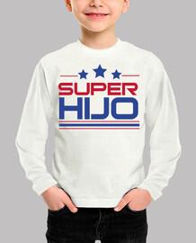Super Hijo - Niño, manga corta, blanco