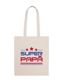 super papà - borsa in tela cotone 100%