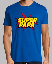 Super Papa - Hombre, manga corta, azul royal, calidad extra