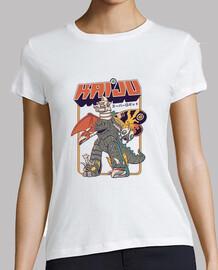 super robot kaiju camisa para mujer