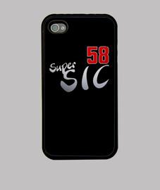 Super Sic 58 Funda iPhone 4, negra