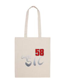 super sic moto 58 100 cotton cloth bag