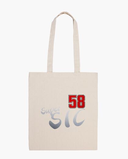 Super Sic Moto 58 Bolsa tela 100 algodón