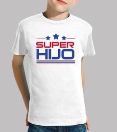 super son - child, short sleeves, white
