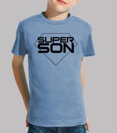 super son - garçon, manches courtes, bleu clair