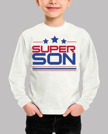 Super Son - Niño, manga corta, blanco