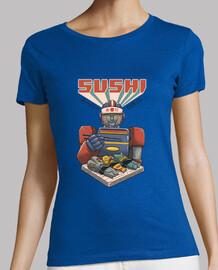 super sushi robot camisa para mujer