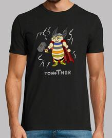Superheroe Thor con cuerpo de resistenc