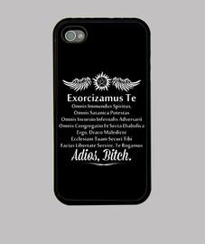 supernatural exorcizamus te bianco cover i-phone 4-8