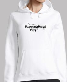 Supernatural Girl Negro Sudadera