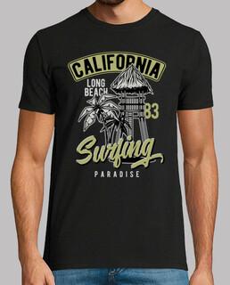 surf california long beach 1983 retro 80s surf USA t-shirt