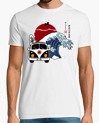 T-shirt surf in giappone (la grande onda di kanagawa)