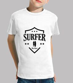 surf niño, manga corta, blanco