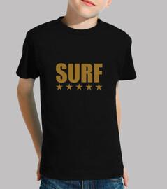 surf niño, manga corta, negro