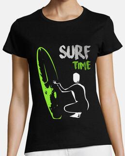 Surf time manga corta mujer