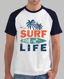 surfear por la vida para surfistas vista las playas con esta camiseta veraniega