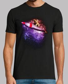 surfen auf einer rakete