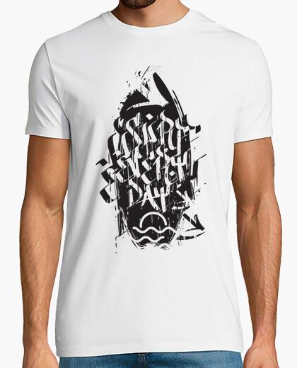 T-Shirt surfen jeden tag grunge-schwarz