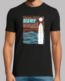 surfzeit sonnenuntergang retro