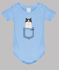 surprised cat pocket