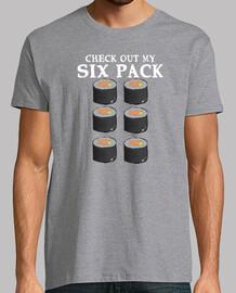 sushi food funny six pack