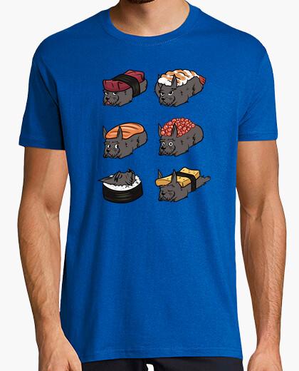 Tee-shirt Sushi nigiri chien terrier écossais