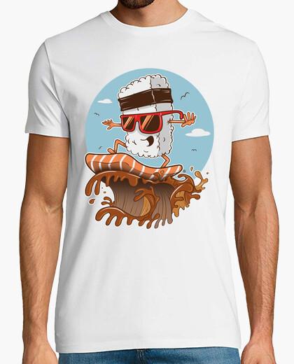 T-shirt sushi surfista