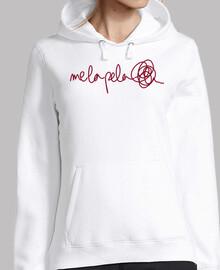 Sweat-shirt à capuche femme, blanc