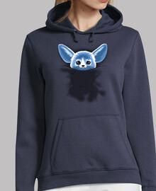 Sweat-shirt à capuche femme, bleu marine