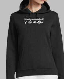 Sweat-shirt à capuche femme, noir