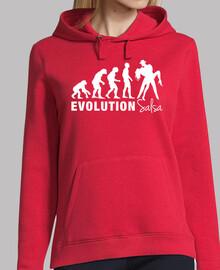 Sweat-shirt à capuche femme, rouge