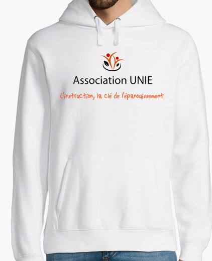 Sweat-shirt à capuche homme, blanc