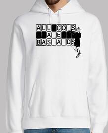 Sweat-shirt à capuche homme, blanc