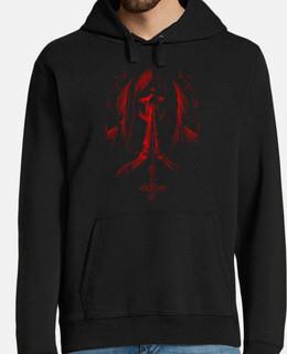 Sweat-shirt à capuche Homme - Dark Skull Red Santa Muerte