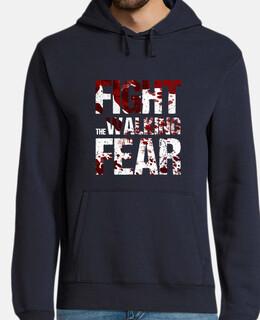 sweat-shirt à pied homme lutter contre la peur