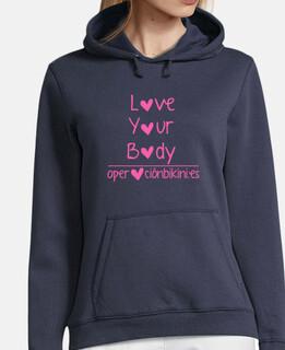 sweat-shirt amour de votre corps