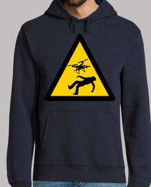 sweat-shirt avertissement drones